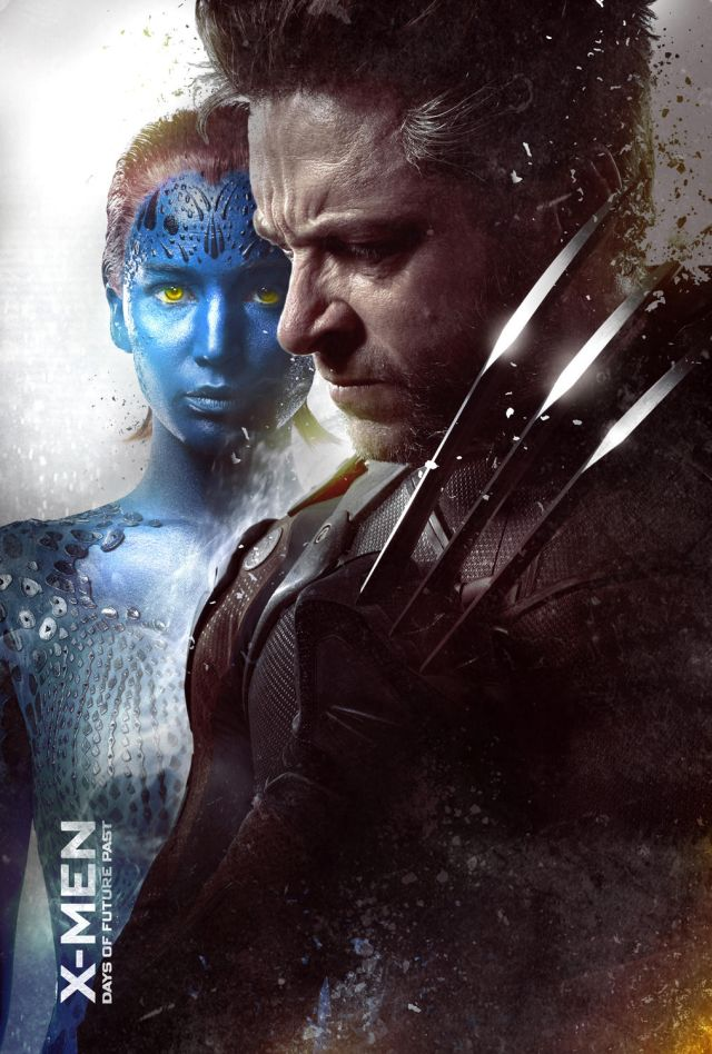 X-Men Days of future Past, Mystique, Jennifer Lawrence, Wolverine, Hugh Jackman