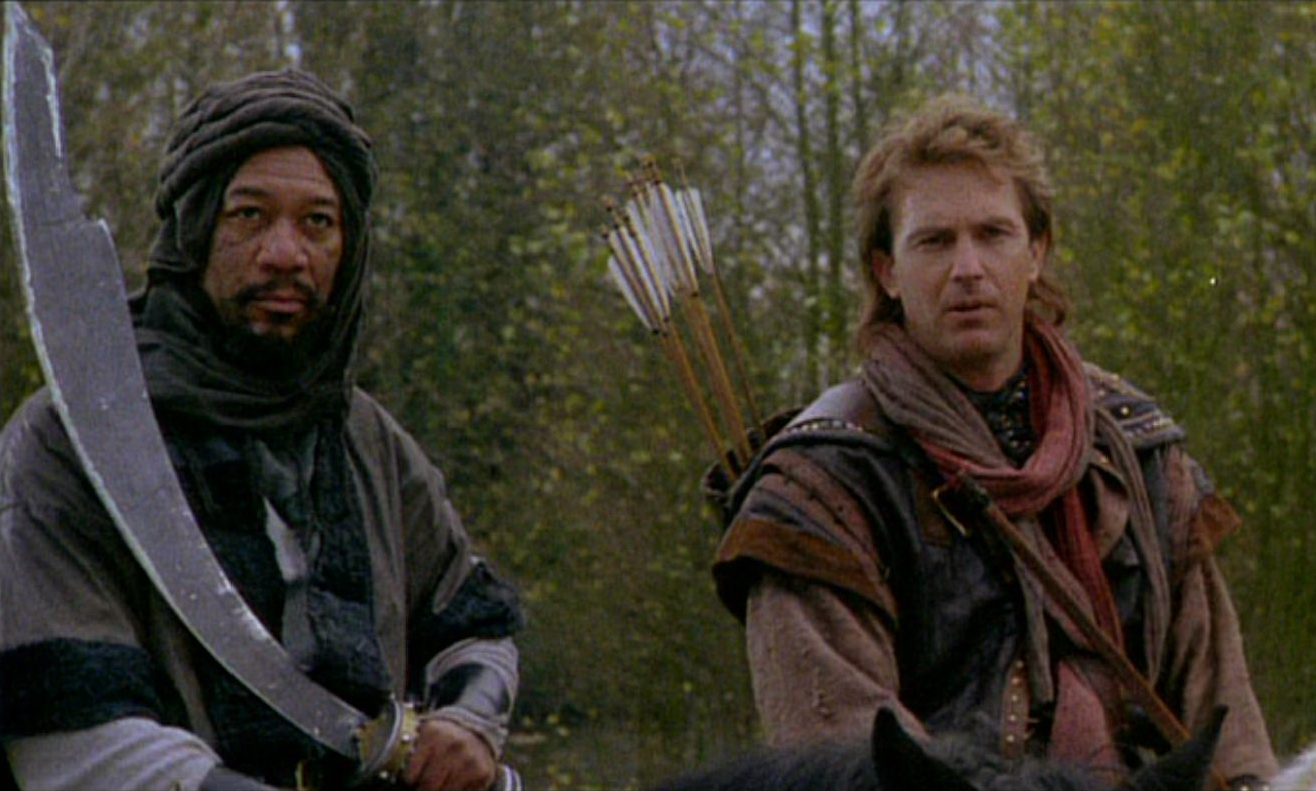 Morgan Freeman, Kevin Costner, Robin Hood Prince of Thieves
