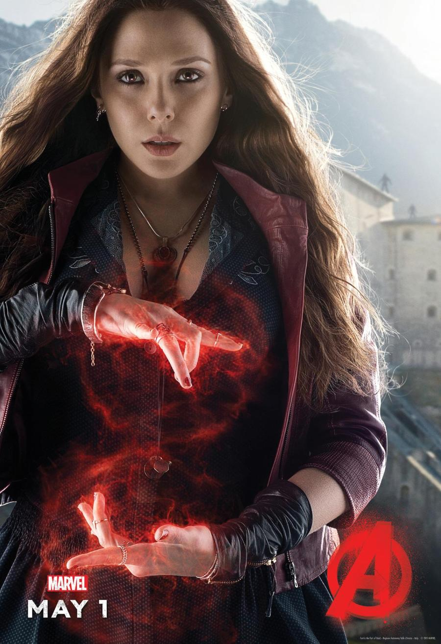 The Scarlet Witch, Elizabeth Olsen, Avengers Age of Ultron