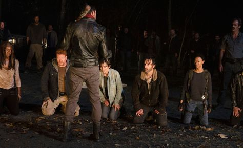 Negan, Rick Grimes, Jeffery Dean Morgan, Andrew Lincoln, The Walking Dead, Michonne