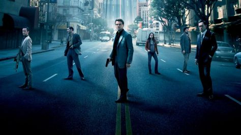 Leonardo DiCaprio, Joseph Gordon Levitt, Ellen Page, Tom Hardy, and Ken Watanabe in Inception