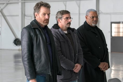 Steve Carrell, Laurence Fishburne, and Steve Carrell in Last Flag Flying