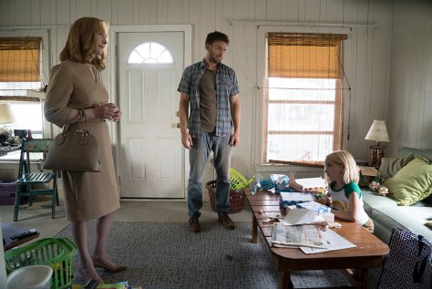 Lindsay Duncan, Chris Evans, and McKenna Grace in Gifted