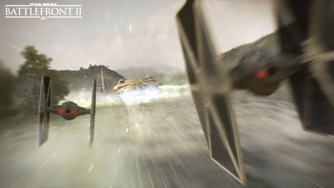 TIE Fighters in Star Wars Battlefront II