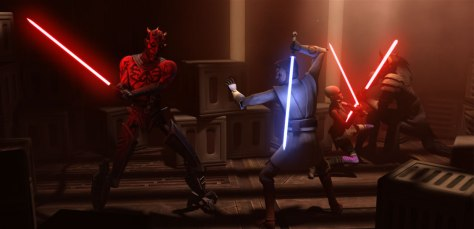 Darth Maul vs. Obi-Wan Kenobi in Star Wars: Clone Wars