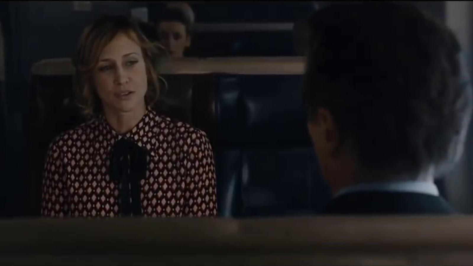 Vera Farmiga and Liam Neeson in The Commuter