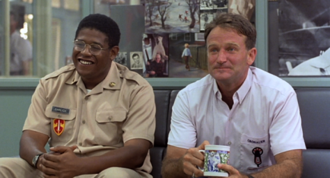 Forest Whitaker and Robin Williams in Good Morning Vietnam