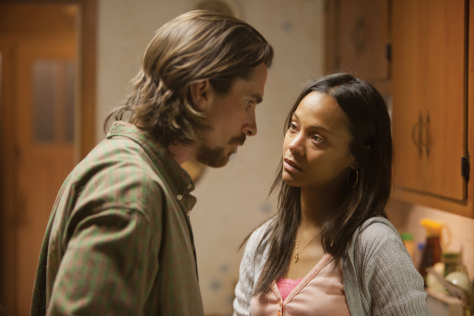 Christian Bale and Zoe Saldana in Out of the Furnace